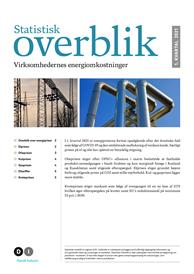 Statistisk overblik - virksomhedernes energiomkostninger - 1. kvartal 2021