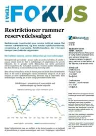 Ny analyse: Restriktioner rammer reservedelssalget