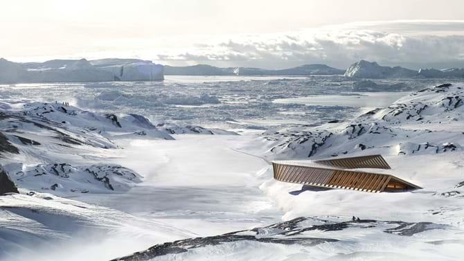 Isfjordscenteret i Grønland designet af Dorte Mandrup.