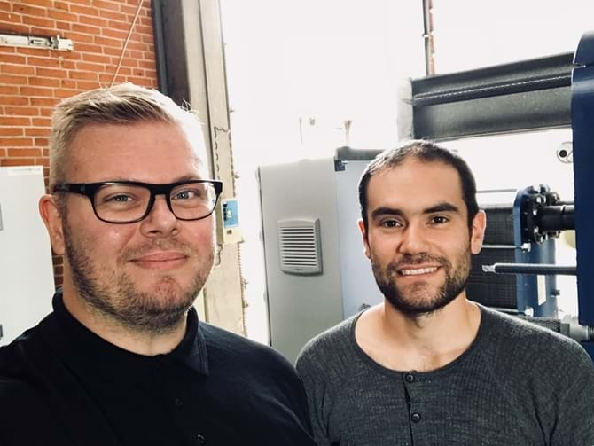 Christian Fonnesbæk Jensen og Mark Viese