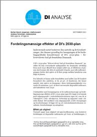 Metodenotat - beregning af fordelingsmæssige effekter af DI's 2030-plan