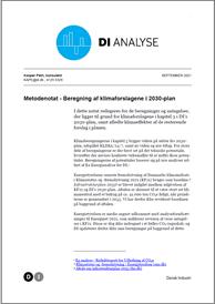 Metodenotat - Beregning af klimaforslag i 2030-plan