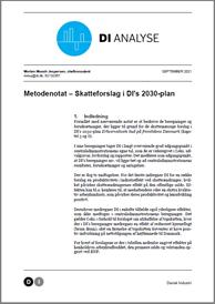 Metodenotat – Beregning af skatteforslag i DI's 2030-plan