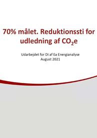 70% målet Reduktionssti for udledning af CO2e