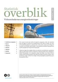 Statistisk overblik - virksomhedernes energiomkostninger 3. kvartal 2020